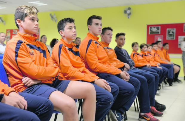 Young waterpolo players from the National School of Sport will train in professional surroundings in Italy. Photo: Matthew Mirabelli