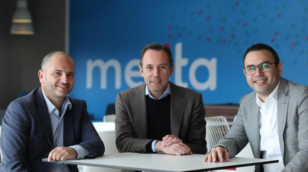 Harald Roesch, CEO at Melita (centre) together with Robert Runza, managing director at Ozone (left) and Malcolm Briffa, director of business services at Melita.