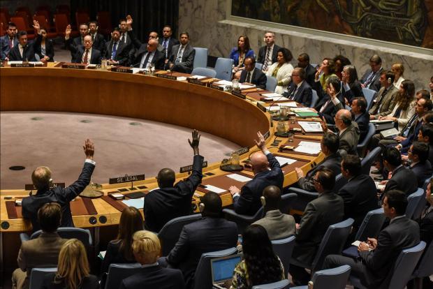 The UN Security Council votes on sanctions. Photo: Reuters