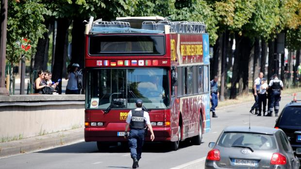 Four tourists injured when double-decker bus hits Paris tunnel