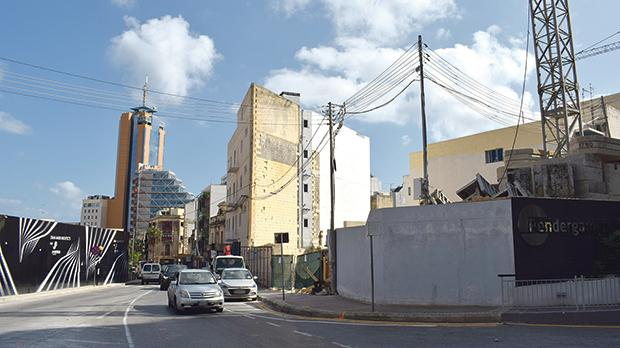 The CryptoTower (site on the right) will be situated in a prime St Julian's location.
