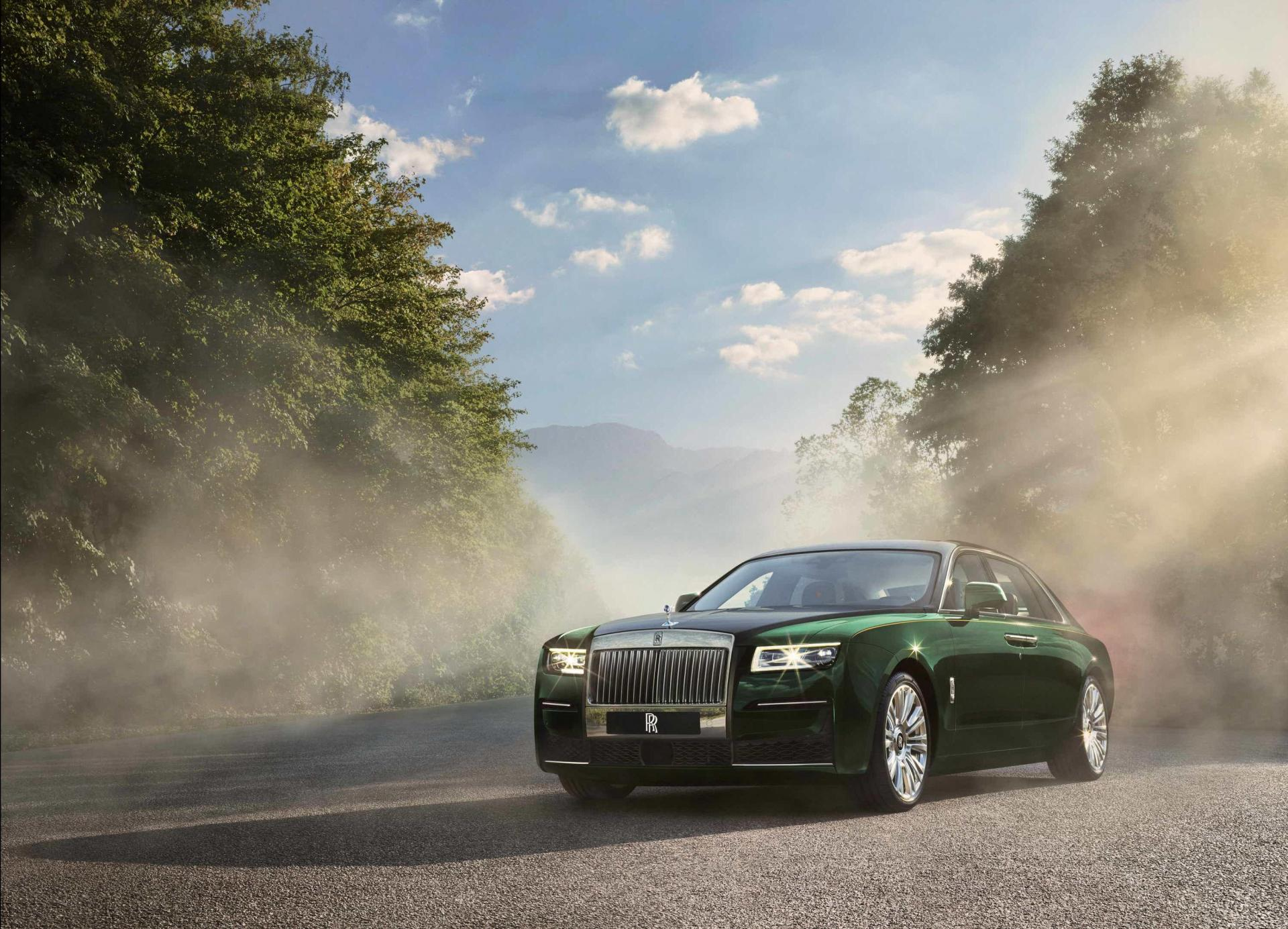 The Rolls-Royce Ghost Extended is considerably longer than the regular car.