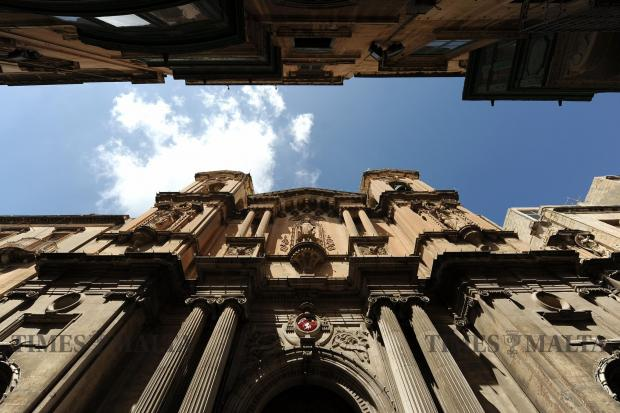 St Paul's Church in Valletta on September 6. Photo: Chris Sant Fournier