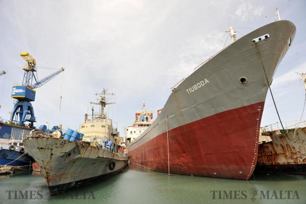 Ships enjoy their retirement at in Marsa on June 20. Photo: Chris Sant Fournier