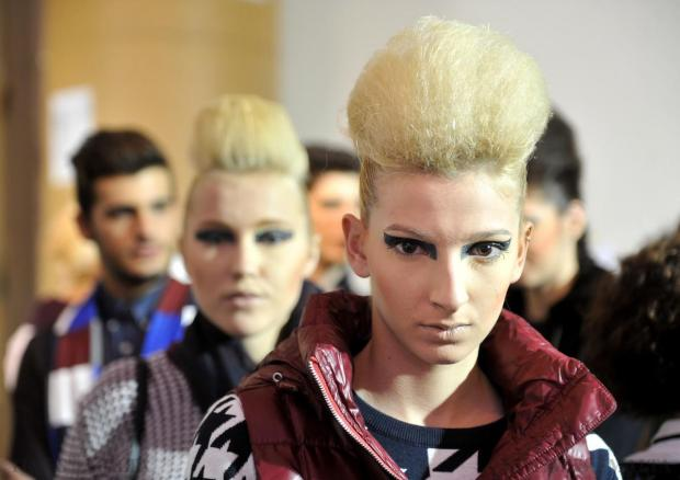 Models backstage at the Pink Fashion show on November 13. Photo: Chris Sant Fournier