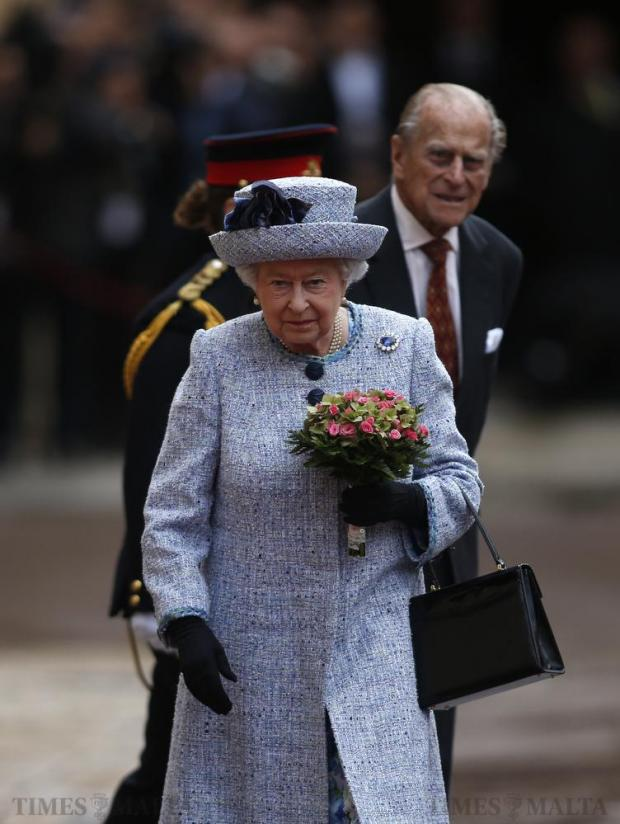 Britain's Queen Elizabeth and Prince Philip arrive at San Anton Palace in Attard for the Commonwealth Heads of Government Meeting (CHOGM) on November 26. Photo: Darrin Zammit Lupi
