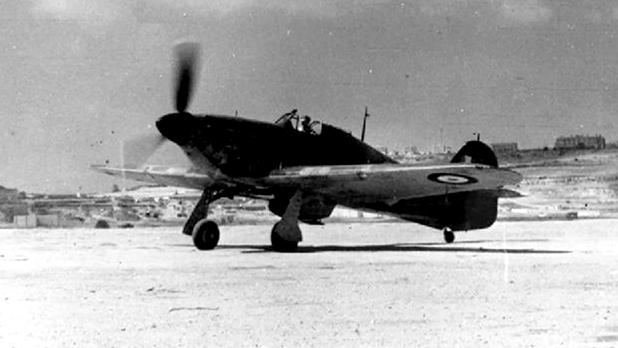 A Hurricane of 261 Squadron at Ta' Qali in 1941.