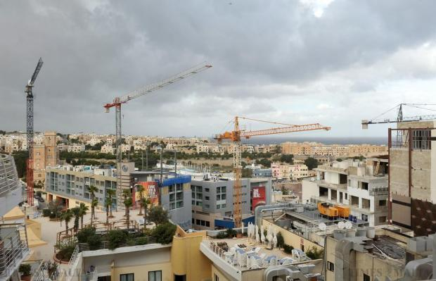 Paceville under construction as seen from the Intercontinental Hotel on November 25. Photo: Chris Sant Fournier