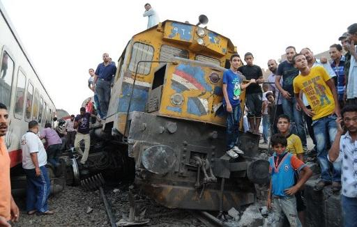 An AFP file photo of the July 2012 derailment at the same station.