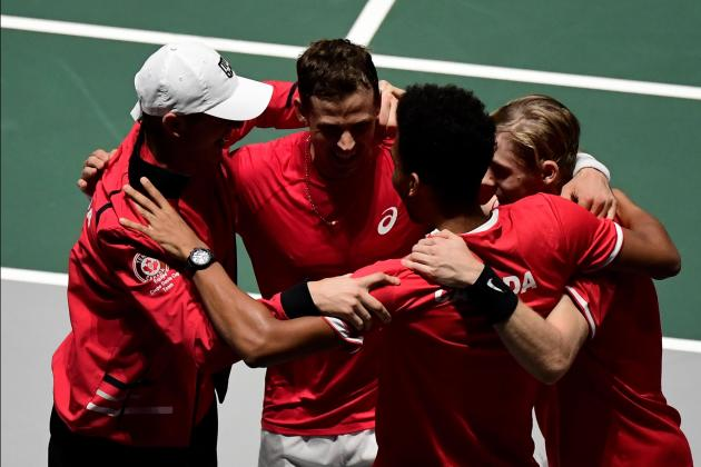 Watch: Canada reach Davis Cup semi-finals after ousting Australia