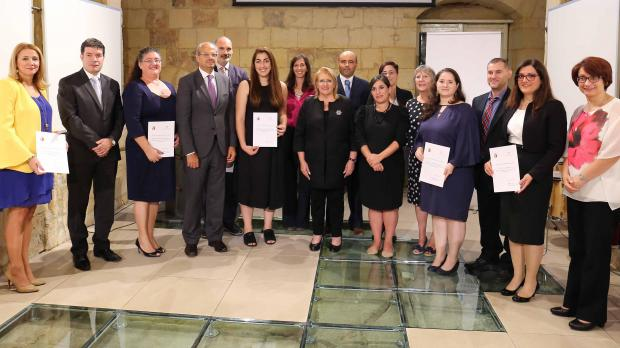 Winners of this year's prize funding. Photo: Arts Council Malta