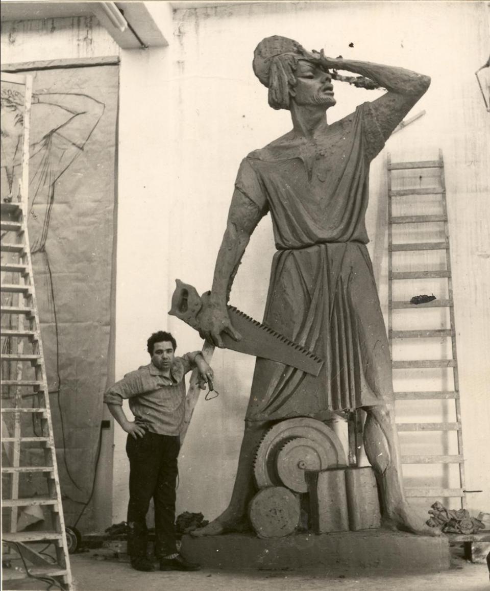 Mr Bonnici's statue of St Joseph.
