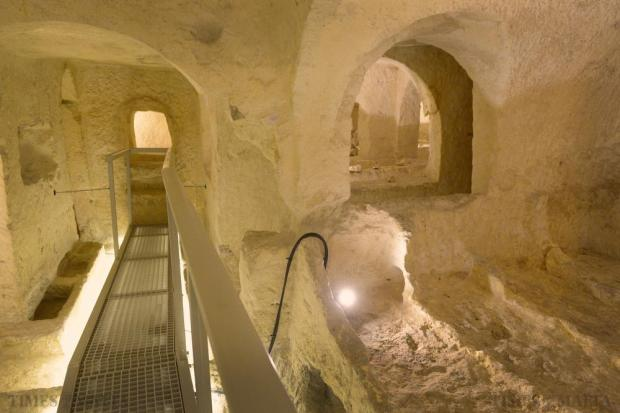 One of the catacombs forming part of the St Paul's Catacombs Complex in Rabat is opened to the public for the first time on October 2 after a new Interpretation centre was built and the complex renovated. Photo: Matthew Mirabelli