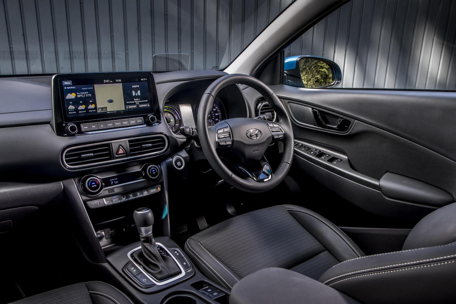The Kona's interior is smartly finished and bristling with tech.