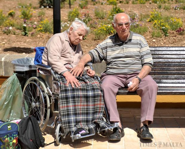 Residents comfort each other at St Vincent de Paul on April 29. Photo: Chris Sant Fournier