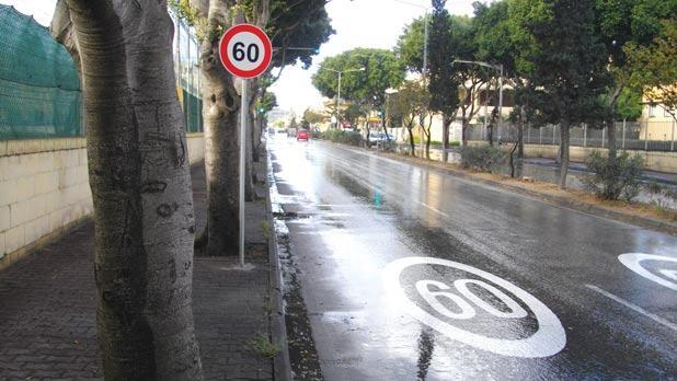 A section of Valletta Road, Mosta.