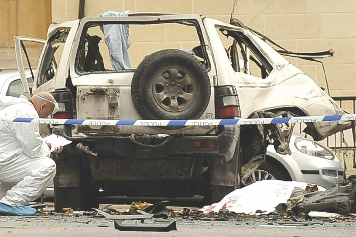 The 2013 car bomb which killed John Camilleri.