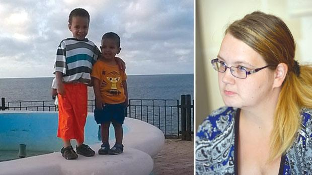 The two children, aged four and two, who were abducted from Malta. Right: Sabrina Albrecht has launched court proceedings in Gozo to bring her children back to Malta. Photo: Matthew Mirabelli