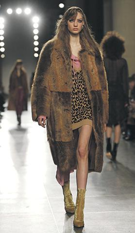 The Topshop Unique catwalk show was inspired by Shakespeare's works. Photo: Neil Hall/Reuters