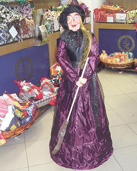 After delivering her gifts the Befana sweeps the floor of the houses she visits with her magic broomstick.