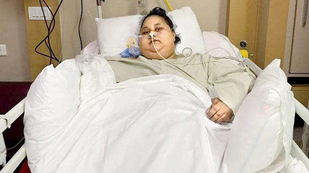 Eman Ahmed discharged from Saifee Hospital