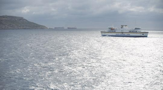 Cars could be driving under this ferry if geological studies show a subsea tunnel between the islands is feasible.