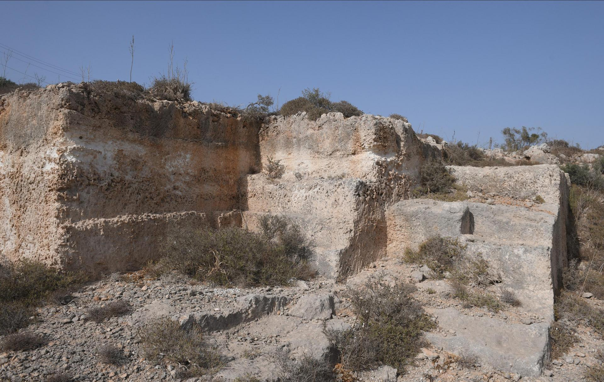 The proposed site is not far from a Roman quarry.  Photo: Matthieu Mirabelli