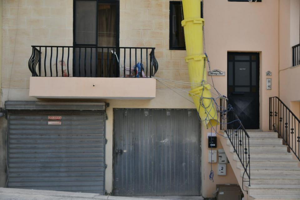 The apartment where the murder took place. Photo: Jonathan Borg