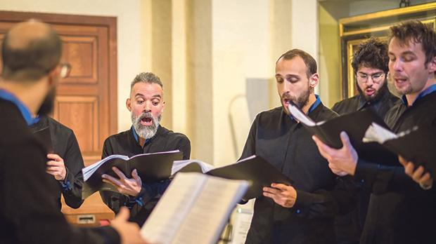 Singing during Gaudete 2017 at the church of Our Lady of Victories, Valletta. Photo: Fritz