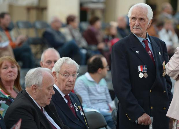 A war veteran attends a ceremony in St George's Square, Valletta on April 14, to mark the 73rd anniversary of King George VI's proclamation on April 15, 1942, awarding Malta the George Cross. Photo: Matthew Mirabelli