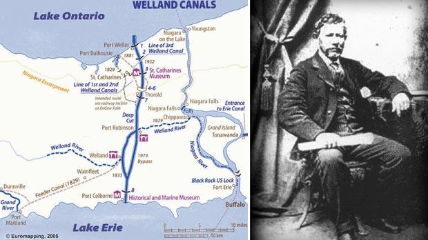 Map of Welland Canal. Right: Louis Shickluna.
