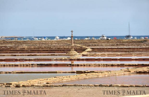 The Salina salt pans on June 22. Photo: Chris Sant Fournier