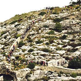 Participants in last Sunday's walk followed the eastern path behind the Victoria Lines from Madliena to Birguma and Għargħur, enjoying the changing spectacular country and sea views.