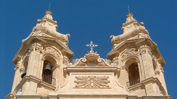 St. Sebastian's old church façade in Qormi, restored to its former beauty by the Restoration Unit. Photo: Stanley Cauchi
