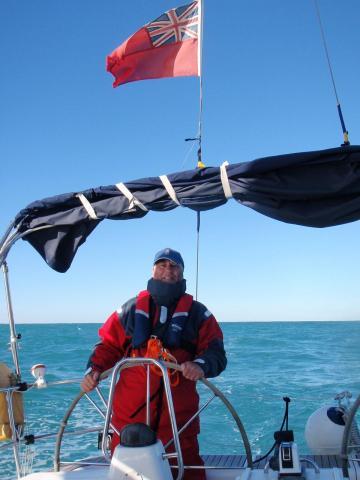 Graham Kentsley on his beloved boat. Photo: Wikicommons