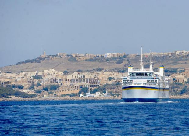 A Gozo Channel ferry crosses over to Malta on August 14. A record number of passengers made the trip up to the sister island of Gozo over the long Santa Marija weekend. Photo: Steve Zammit Lupi