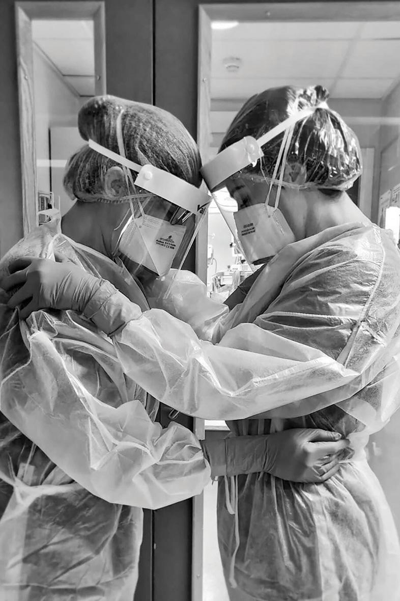 The ITU senior staff nurses behind the powerful pandemic photo are Doreen Zammit (left) and Charmaine Cauchi.