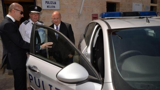 Dr Farrugia (right) and commissioner Cutajar (middle) are shown the new vehicles. Photo: DOI