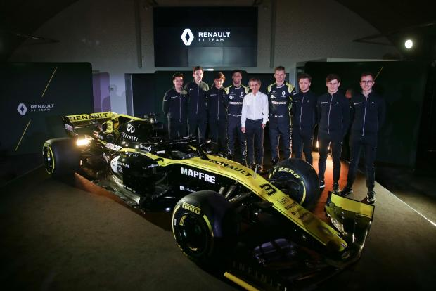 The Renault F1 team unveiled the 2019 car on Wednesday.