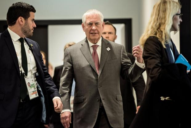 US Secretary of State Rex Tillerson walks to a meeting on the sidelines of G20 Conference. Photo: Reuters
