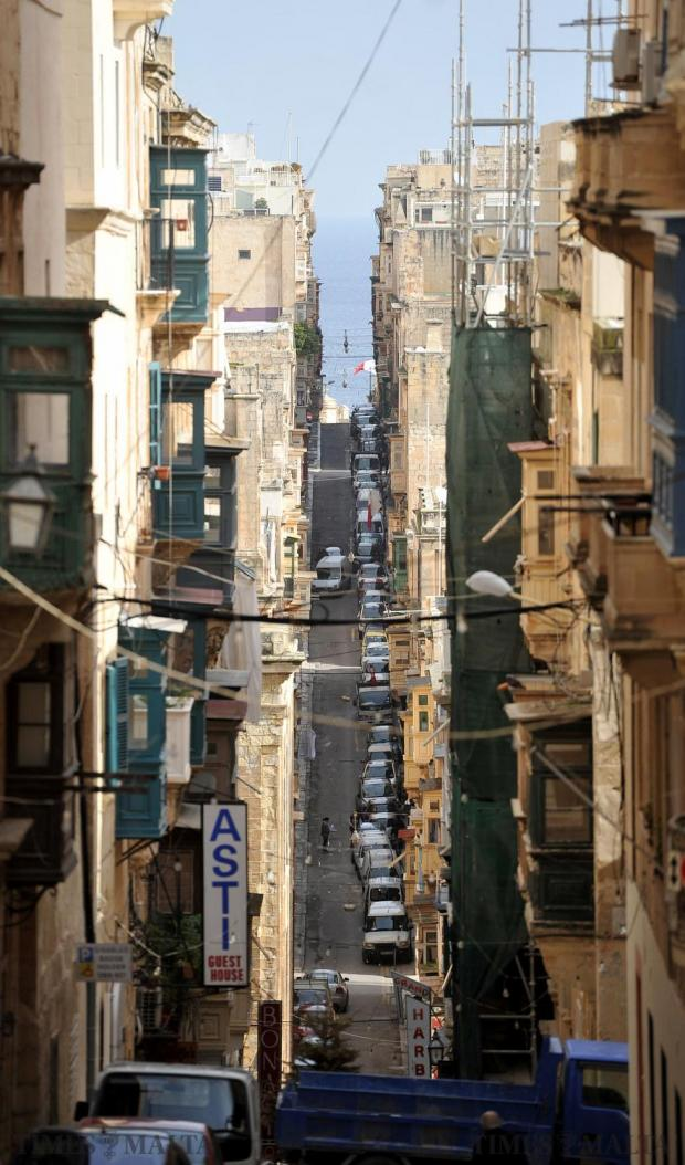 St Ursula Street in Valletta on February 2. Photo: Chris Sant Fournier