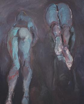 Two Figures (Blue)