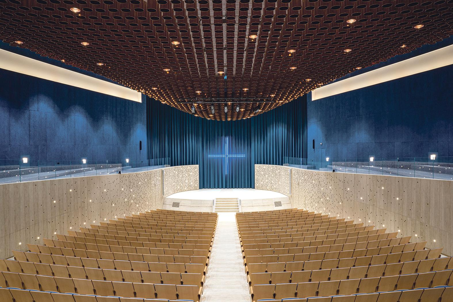 The Sacred Place auditorium in Blata l-Bajda, designed by Atelier Maison
