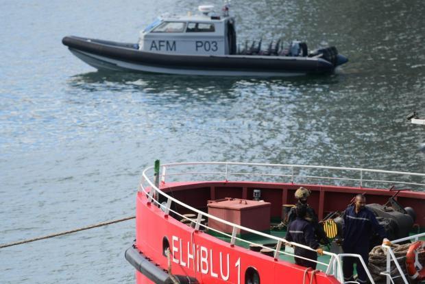 The El Hiblu 1 upon disembarkation in Malta. Photo: Jonathan Borg