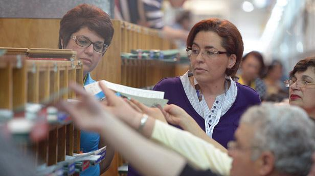 Nationalist MP Claudette Buttigieg overseeing the counting of votes.