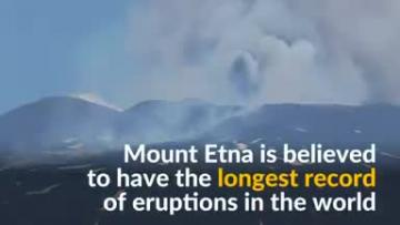 Watch: Bubbling lava erupts from Mount Etna in Sicily