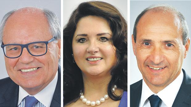 From left: Edward Scicluna, Helena Dalli and Chris Fearne.