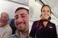 Father spends Christmas flying to keep cabin crew daughter company
