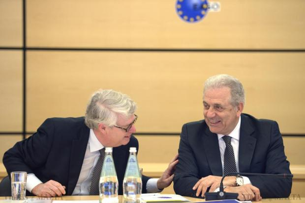 European Commissioner for Migration, Home Affairs and Citizenship, Dimitris Avramopoulos (right) shares a light moment with EASO Executive Director Robert Visser at the EASO - European Asylum Support Office in Valletta on March 26. Photo Matthew Mirabelli