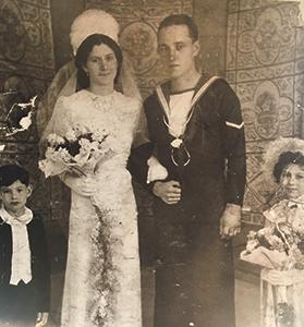 Jane Spiteri and Reg Thompson's wedding in Malta, c. 1940